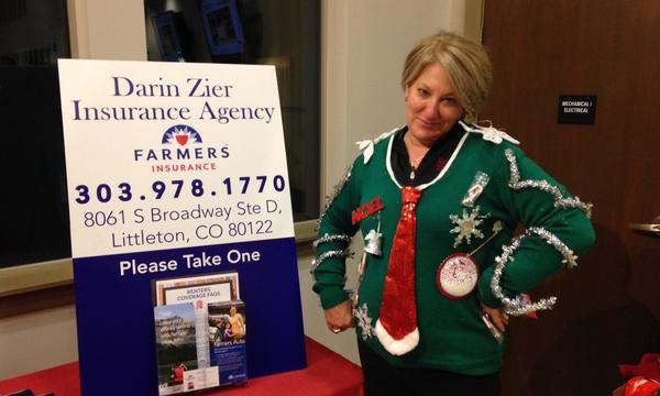 Winner of the Lucent Apartments ugly sweater party 2014