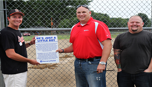 "The first ""He's Just A Little Boy"" sign was hung July 19th 2012"