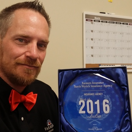 "Awarded ""The Best 2016 Tulsa"" in Insurance Agency."