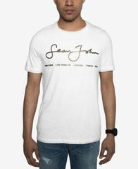 Image of Sean John Men's Signature Script T-Shirt, Created for Macy's