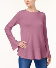 Image of Style & Co Flared Crew-Neck Sweater, Created for Macy's