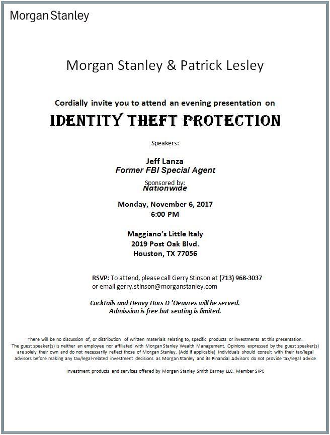 Patrick Lesley | Houston, TX | Morgan Stanley Wealth Management