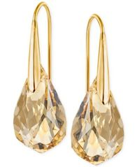 Image of Swarovski Gold-Tone Champagne Crystal Drop Earrings