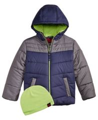 Image of RM 1958 Little Boys Norris Colorblocked Hooded Jacket with Hat