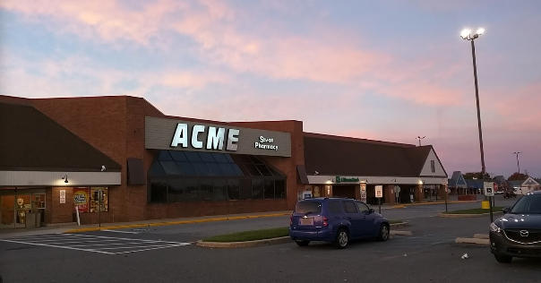 Acme Markets store front picture at 146 Fox Hunt Dr in Bear DE