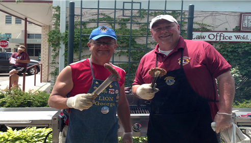 Grilling Brats & Burgers for the Robbinsdale Lions, during Whiz Bang Days!!