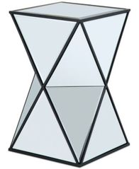 Image of Leilani Angluar Mirror Accent Drum Table, Quick Ship