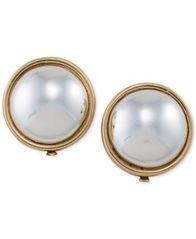 Image of Lauren Ralph Lauren Gold-Tone Imitation Pearl Clip-on Earrings