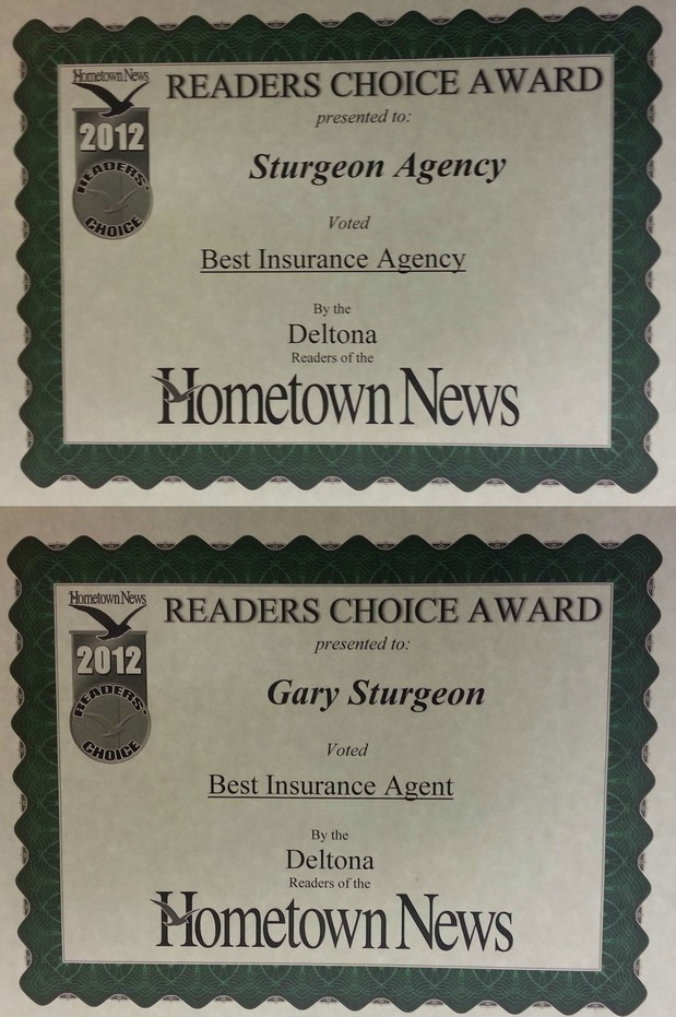Gary Sturgeon - Readers Choice Award