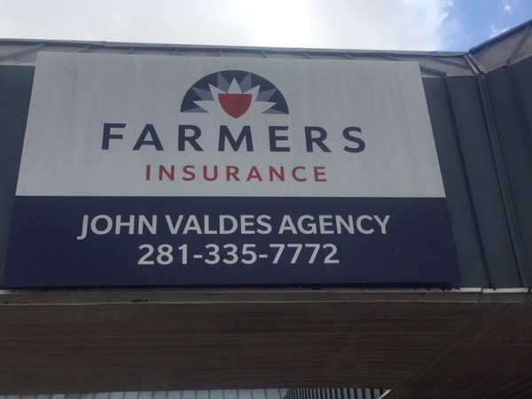 Agency signage on the Farmers office.