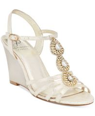 Image of Adrianna Papell Kristen Evening Wedge Sandals