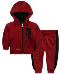 Image of Nike Baby Boys 2-Pc. Therma-FIT Striped Jacket & Pants Set