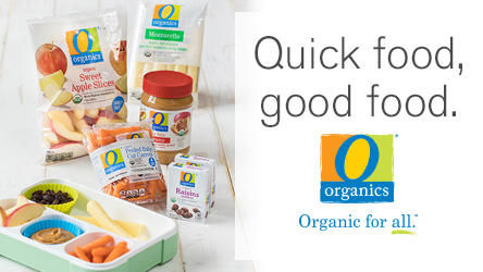 Quick food, good food.  O Organics foods.