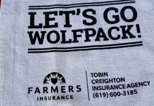 picture of wolfpack towel