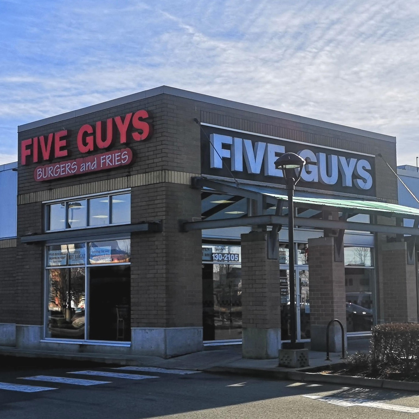 Five Guys at 130-2105 Hawkins Street in Port Coquitlam.