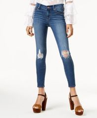 Image of Celebrity Pink Juniors' Distressed Skinny Jeans