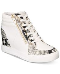 Image of ALDO Kaia Lace-Up Wedge Sneakers, Created For Macy's