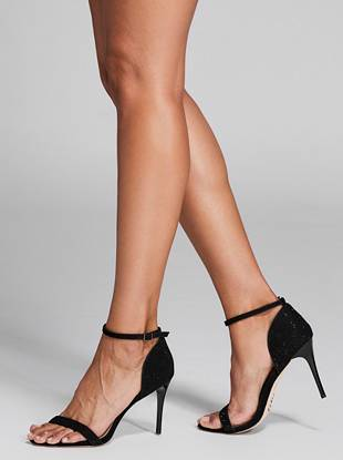 black designer high heels