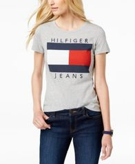 Image of Tommy Hilfiger Cotton Embroidered Logo T-Shirt, Created for Macy's