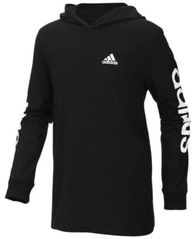 Image of adidas Big Boys Logo-Print Cotton Hoodie