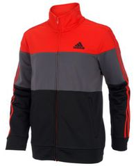 Image of adidas Big Boys Colorblocked Tricot Track Jacket