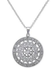 Image of EFFY Diamond Disc Pendant Necklace (1/4 ct. t.w.) in 14k White or Yellow Gold
