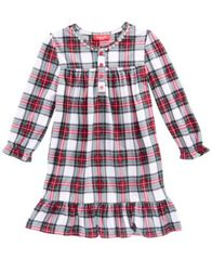 Image of Matching Family Pajamas Stewart Plaid Nightgown, Available in Toddler and Kids, Created for Macy's