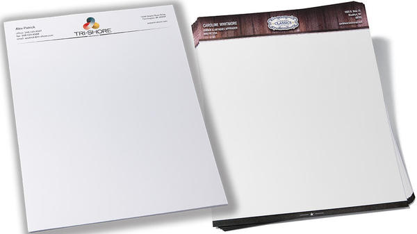 custom letterhead examples for two different companies