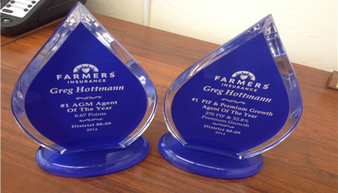 Greg was awarded 2 of the 2014 Agent of the Year Awards.