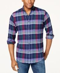 Image of Club Room Men's Flannel Shirt, Created for Macy's
