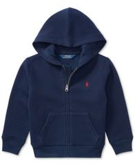 Image of Ralph Lauren Little Boys Full Zip Hoodie