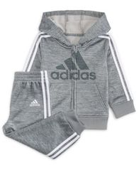 Image of adidas Baby Boys 2-Pc. Fleece Hoodie & Jogger Pants Set
