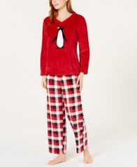 Image of Charter Club Plush Pajama Set, Created for Macy's