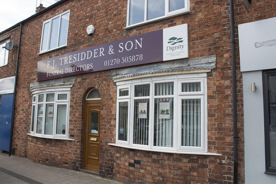 F J Tresidder & Son Funeral Directors in Crewe, Cheshire.