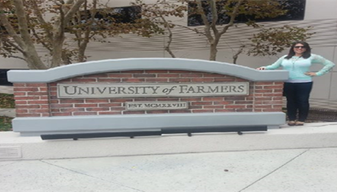 Brittney attending the University of Farmers® in California!