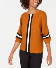 Image of Say What? Juniors' Ribbed Striped Sweater