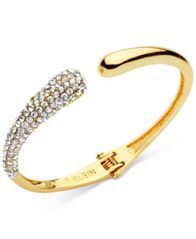 Image of Anne Klein Pavé Hinged Cuff Bracelet, Created for Macy's