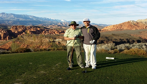 Me and Dad in Utah 2014 working on our handicaps.