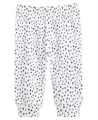 Image of First Impressions Spotted Cotton Jogger Pants, Baby Girls, Created for Macy's