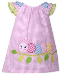 Image of Bonnie Baby Ruffle-Sleeve Check-Print Dress, Baby Girls