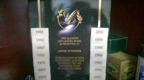 Arnie Schweer - Agency Awards