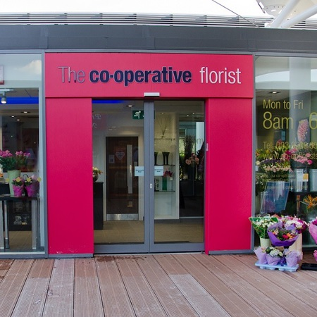 Store front for Co-operative Florist
