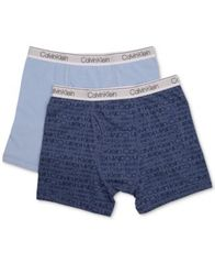 Image of Calvin Klein 2-Pk. Cotton Boxer Briefs, Toddler, Little & Big Boys