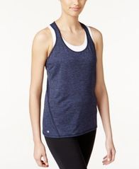 Image of Ideology Rapidry Heathered Racerback Performance Tank Top, Created for Macy's