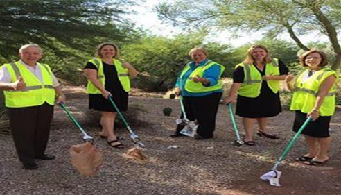 Our Agency gets involved! We are hands-on in keeping Scottsdale beautiful