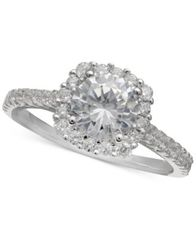Image of Giani Bernini Cubic Zirconia Halo Ring, Created for Macy's