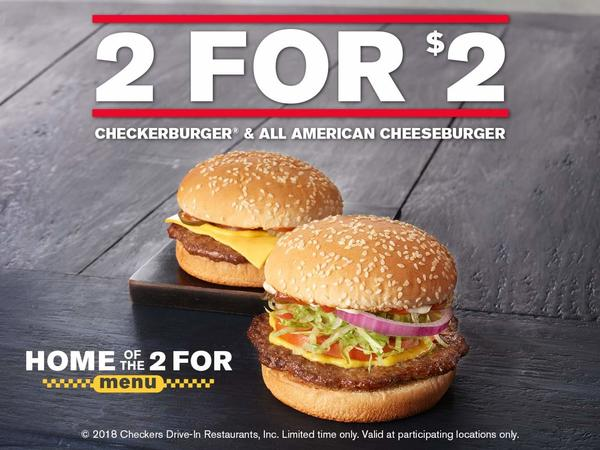 All American Cheeseburger and Checkerburger