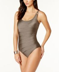 Image of Calvin Klein Starburst One-Piece Swimsuit,A Macy's Exclusive Style