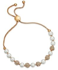 Image of Charter Club Pavé & Imitation Pearl Slider Bracelet, Created for Macy's