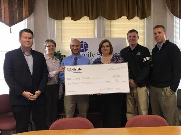 Cullen Sheehan - Allstate Foundation Helping Hands Grant for Family Services Incorporated